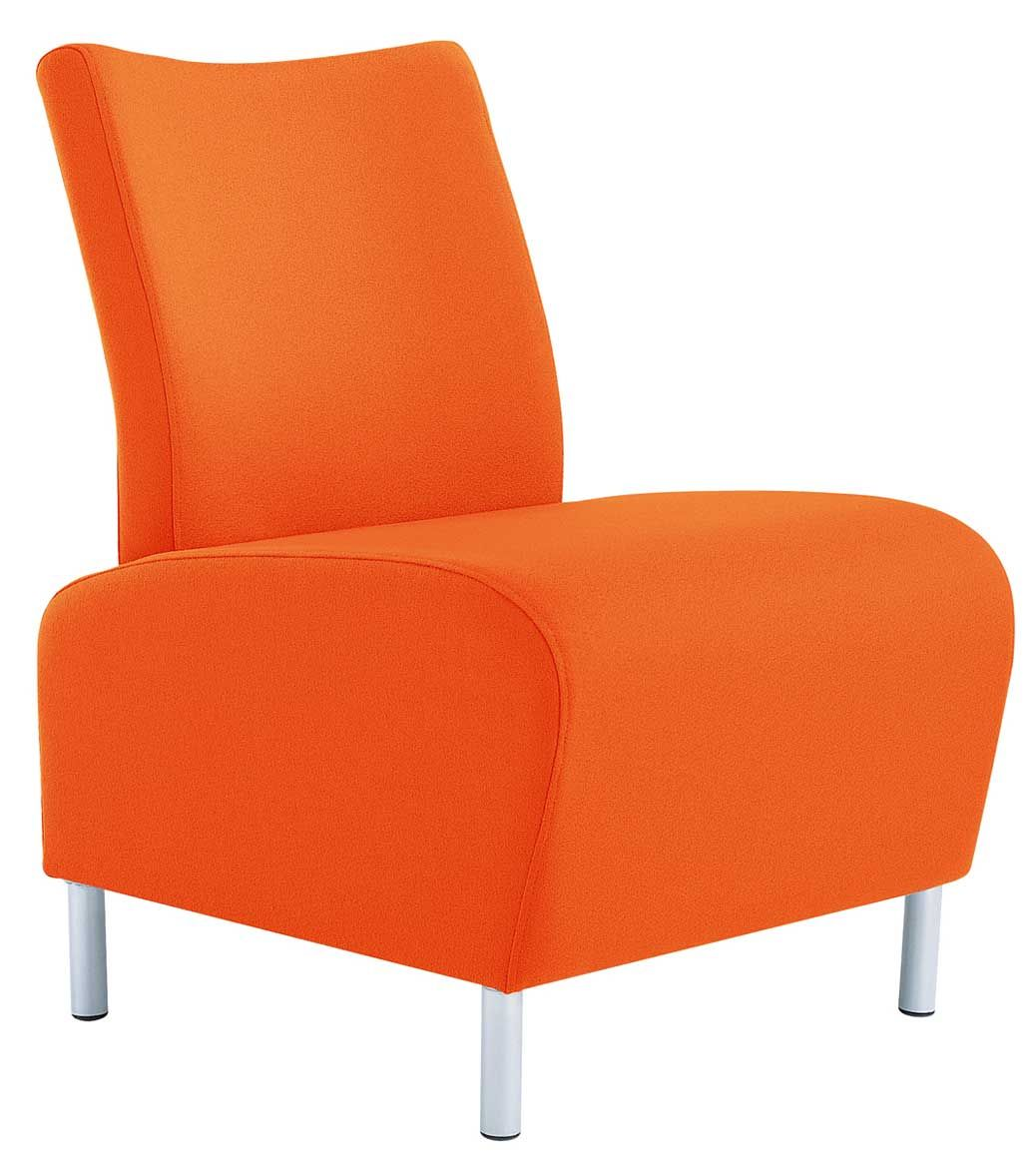 Affordable Modern Office Furniture: Modern Orange Reception Office Chairs