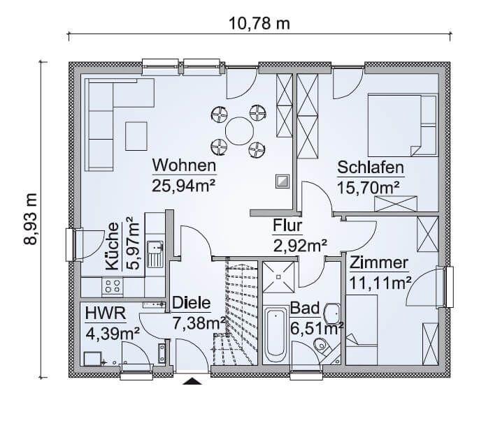 Winkelbungalow Grundrisse 80 Qm