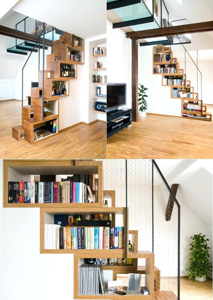 Best 34 Creative Ways To Use Staircase Space Space In 400 x 300