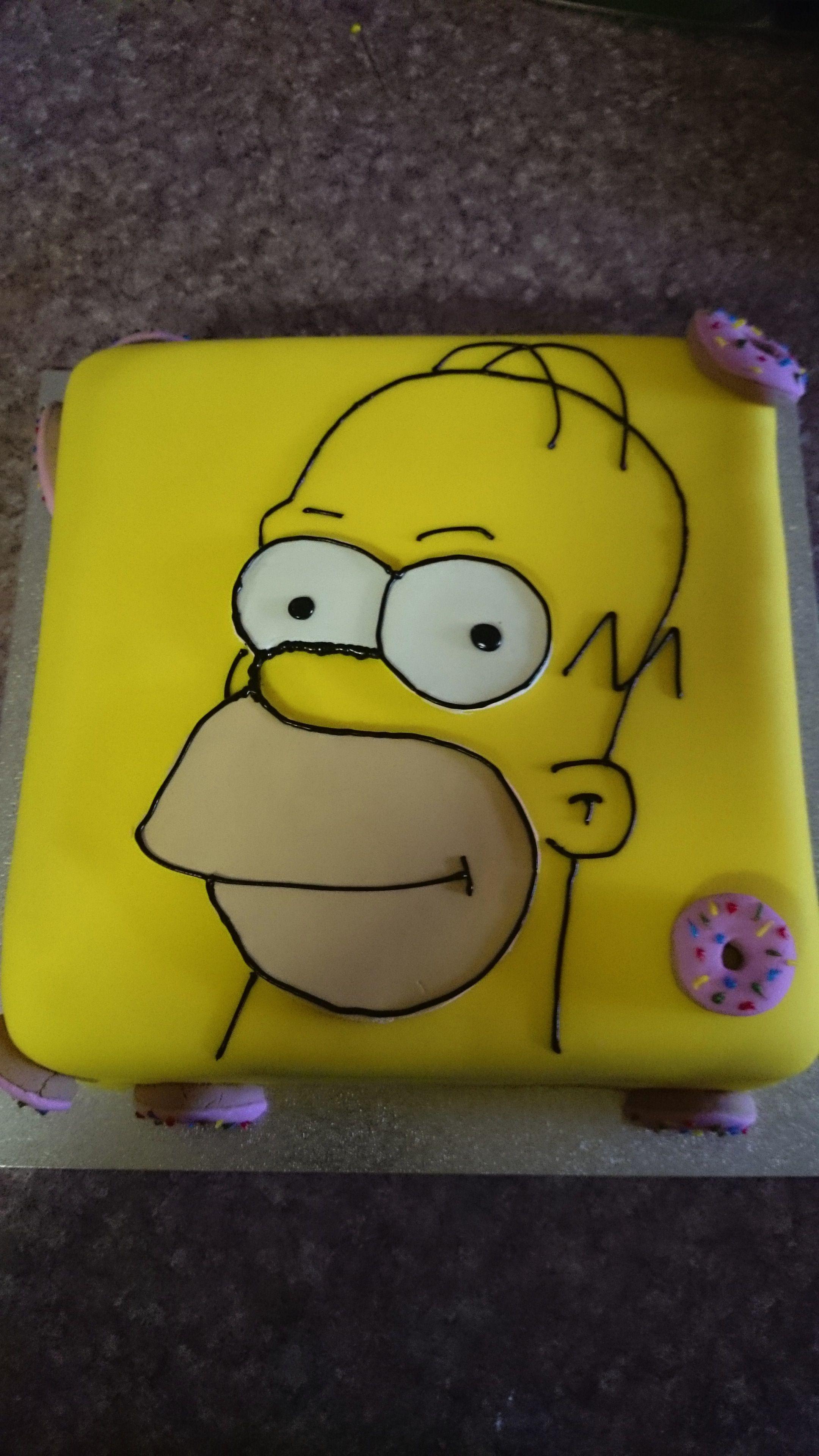 Admirable Homer Simpson Birthday Cake Simpsons Cake Homer Simpson Cake Funny Birthday Cards Online Sheoxdamsfinfo