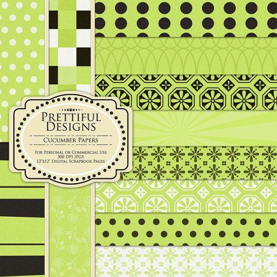 Digital Paper Pack - Cucumber