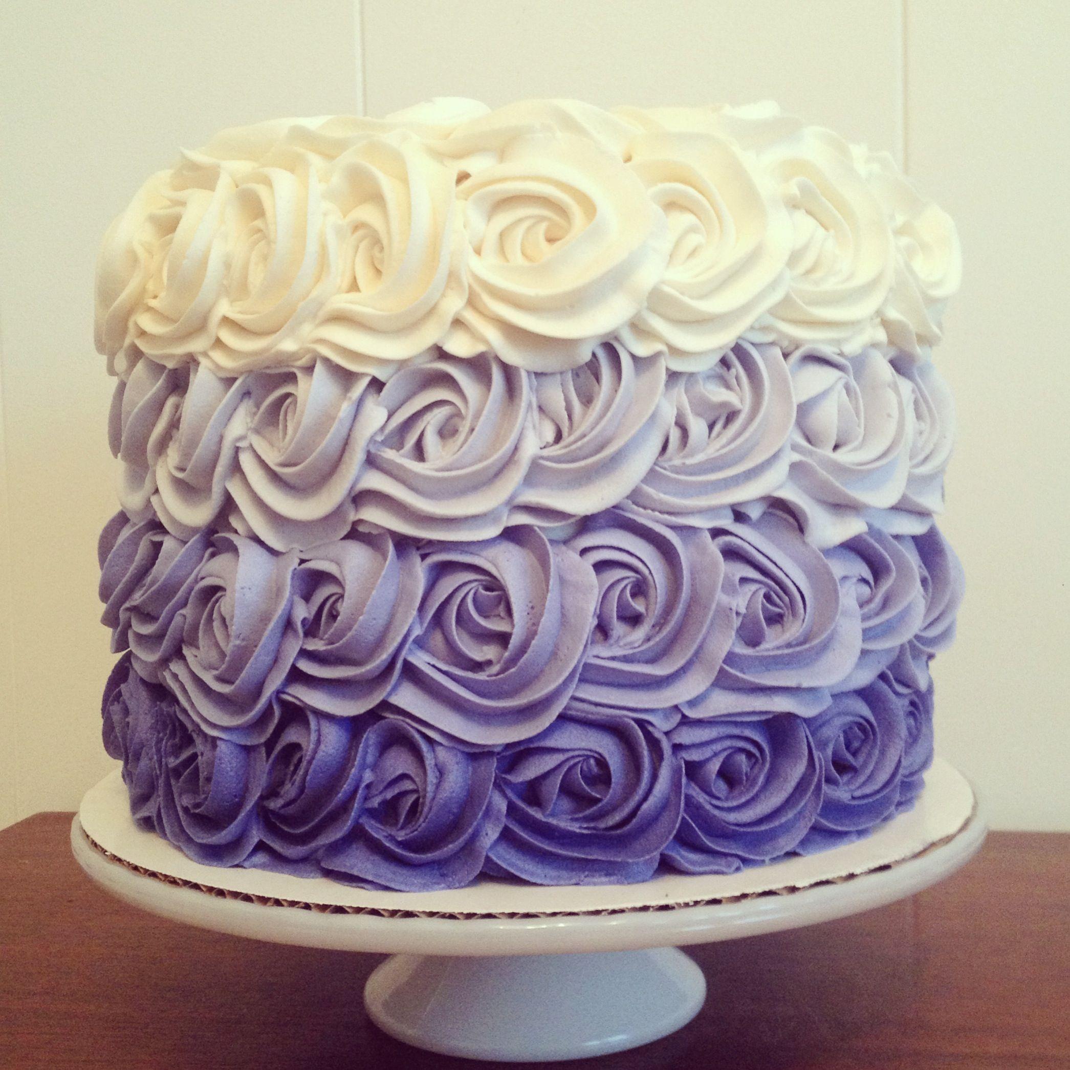 Square Ombre Buttercream Cake Uk