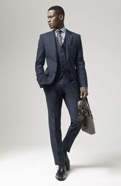 6bcec2ce6 Hugo Boss James Sharp Suit. Hugo Boss James Sharp Suit Black Three Piece ...