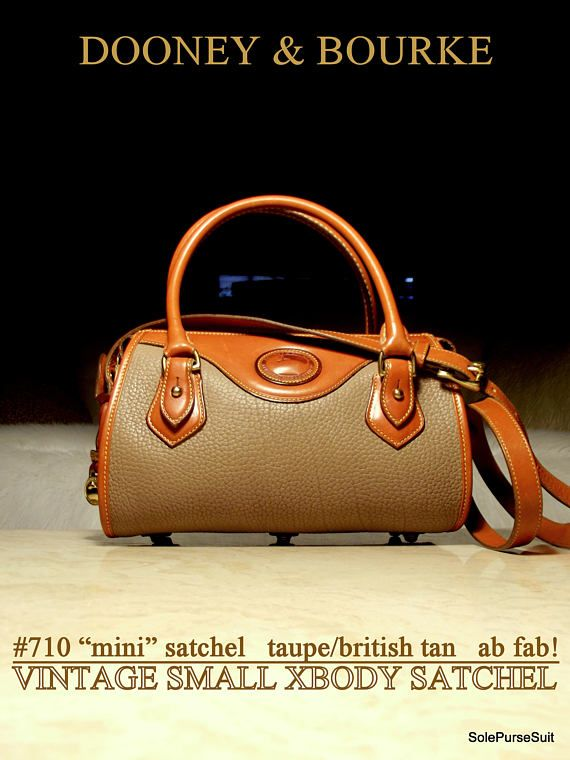 Vintage Dooney   Bourke R710 All Weather Leather British Tan   vintagedooneybag  dooneybag  leatherpurse  vintagepurses  designerbags 7d5a23ca6f5bb