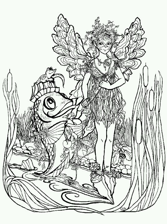 Phee McFaddell Artist cute free coloring page | Fairy ...