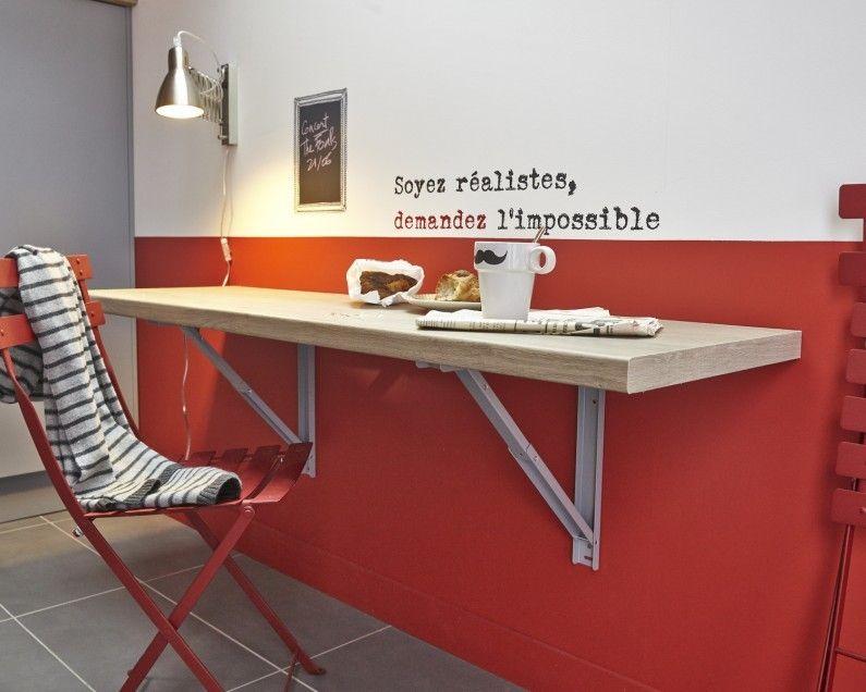 Un Coin Repas Qui Met L Eau A La Bouche Table De Cuisine Pliante Table Rabattable Decoration Maison