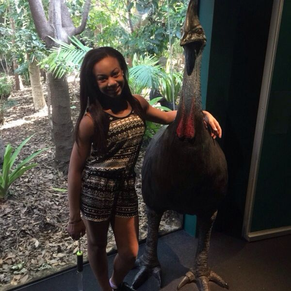 Nia at a zoo in Australia