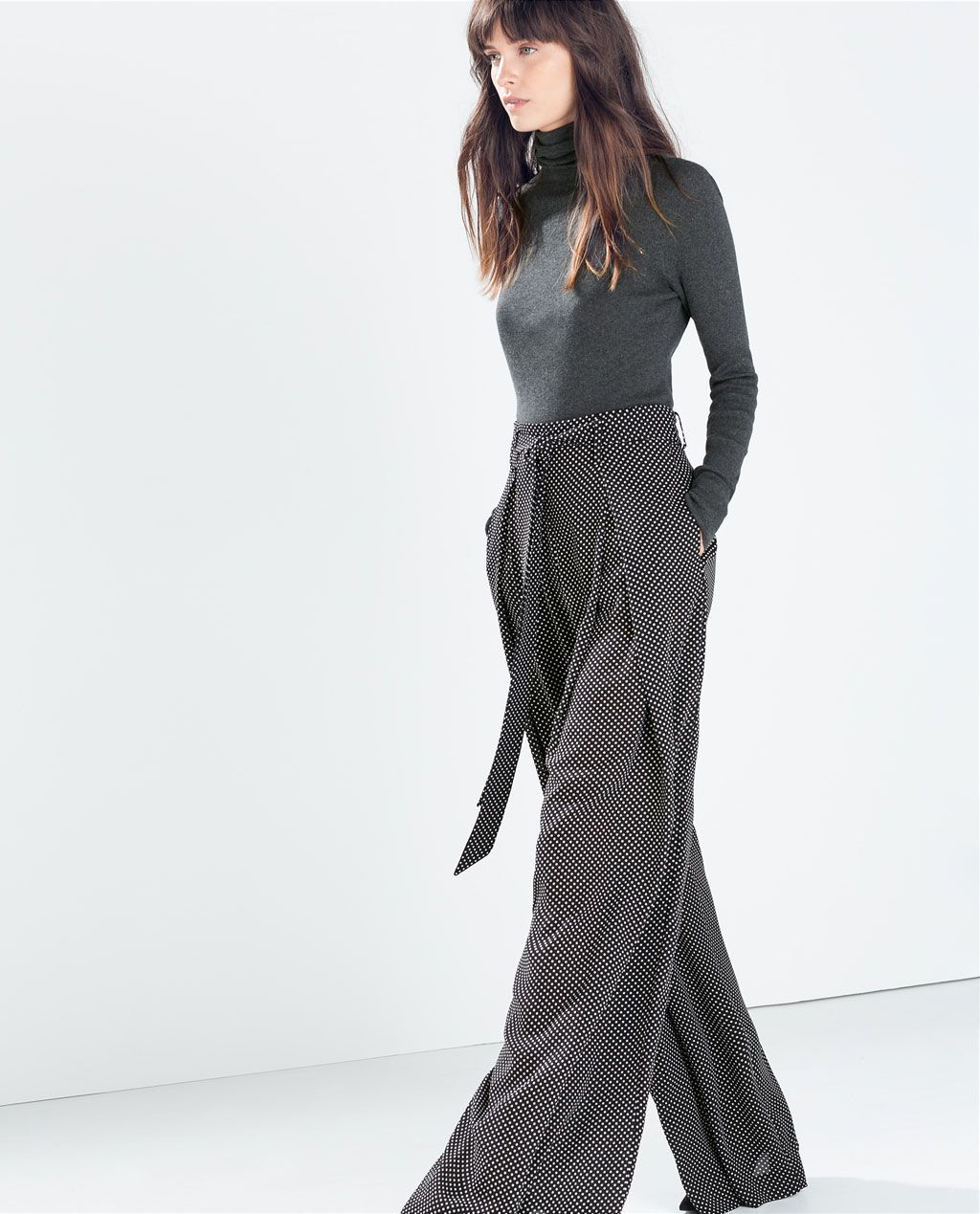 Image 3 of WIDE-LEG TROUSERS WITH SMALL DOTS from Zara | My Style ...