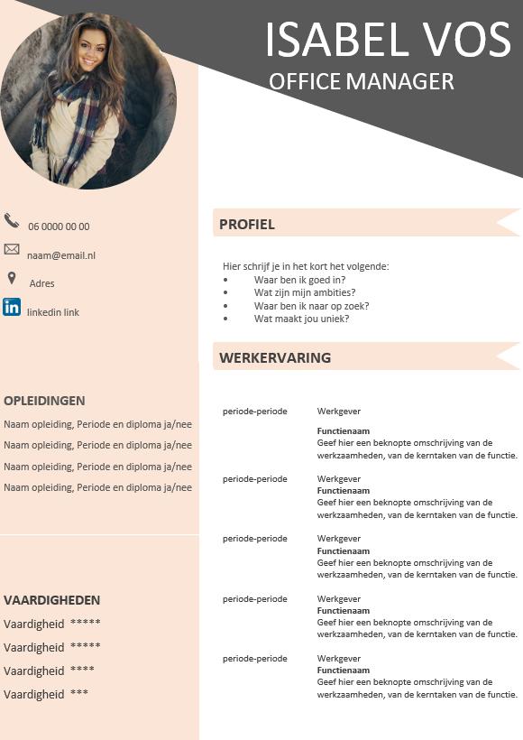 CV voorbeeld Word, 100 gratis moderne CV voorbeelden
