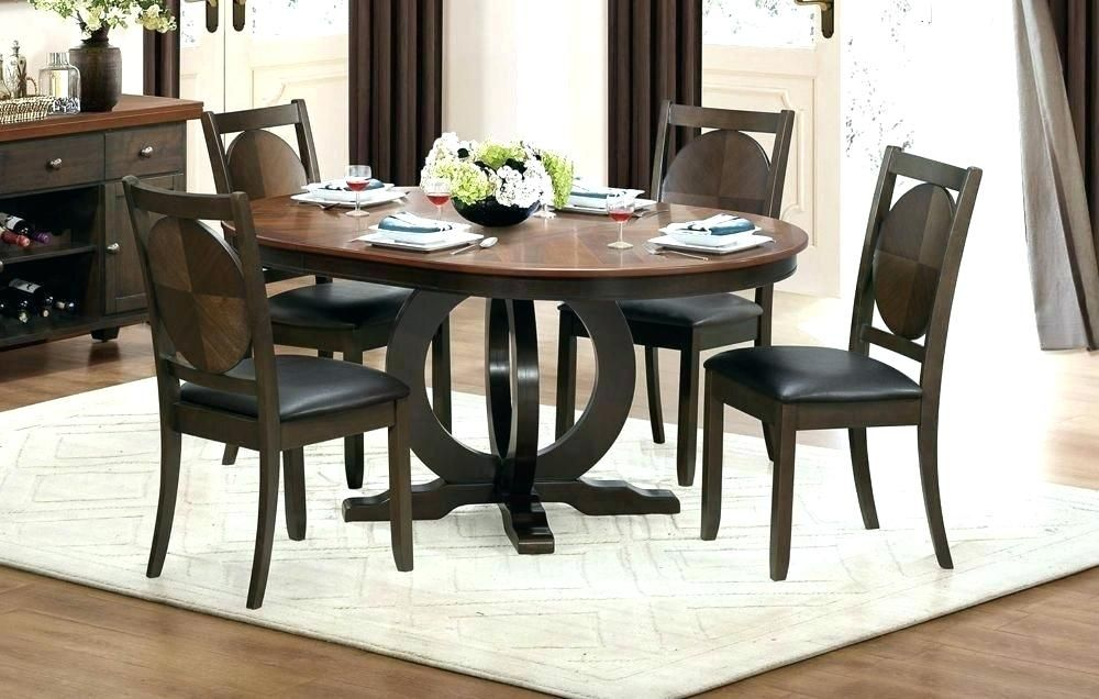 Adorable Oval Dining Room Table Set With Leaf Graphics Best Of