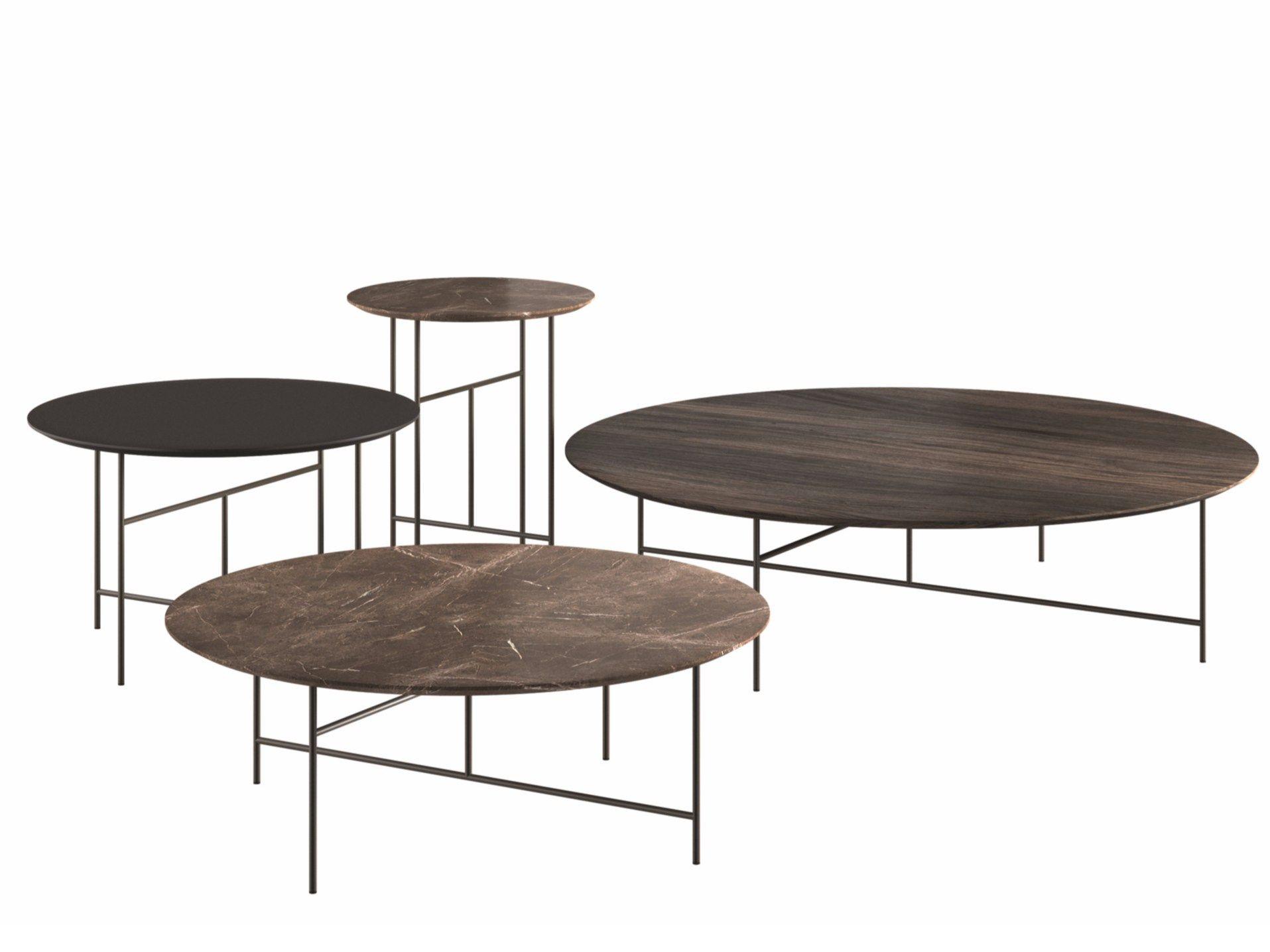 Contemporary Style Round Coffee Table Sen By De Padova Design