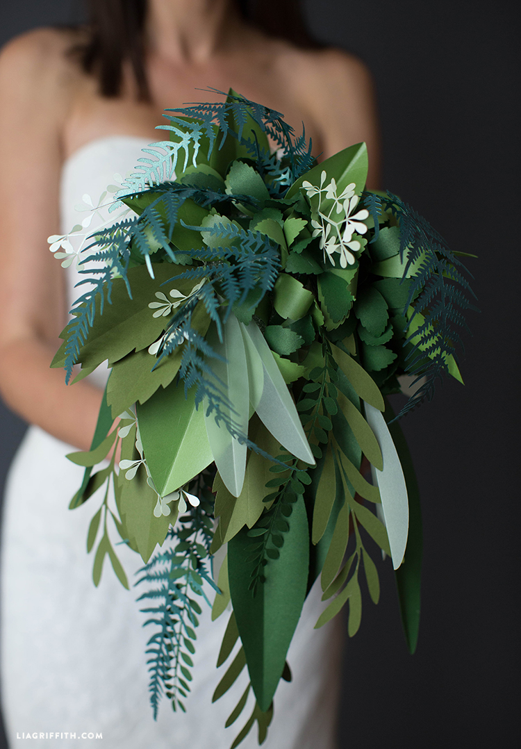 Paper Greenery Wedding Bouquet (Video Tutorial)