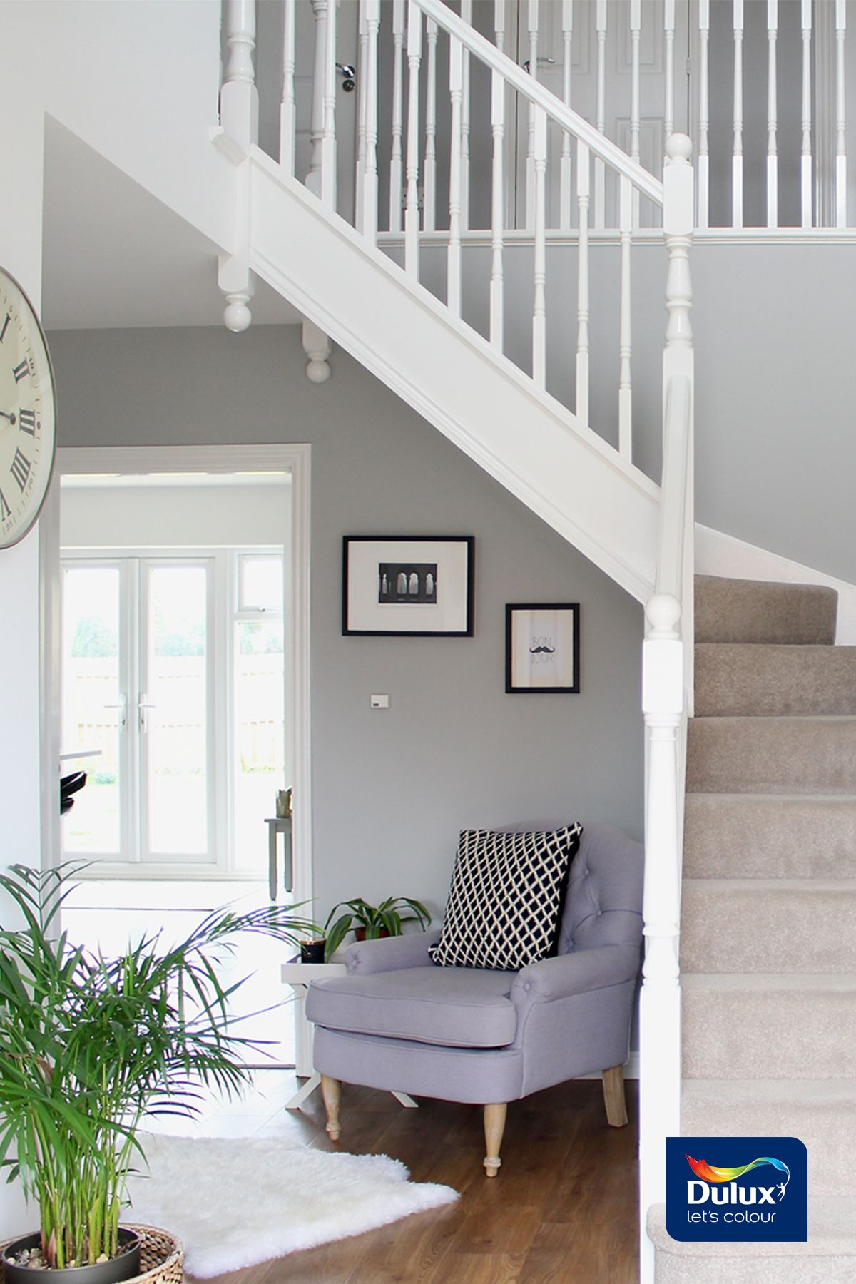 hallway paint ideas grey, Jess created this stylish hallway using Dulux in Chic