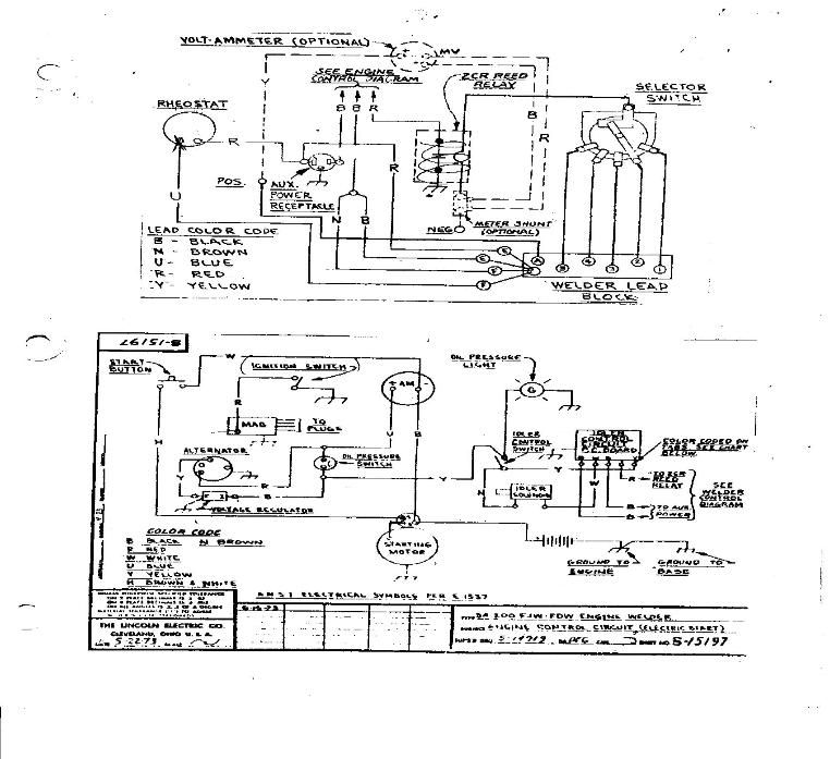 Miller 250 Welder Wiring Diagram For Spotlights In Ceiling Lincoln Sa200 Diagrams Original Sa 200 W Auto Idle Andlincoln