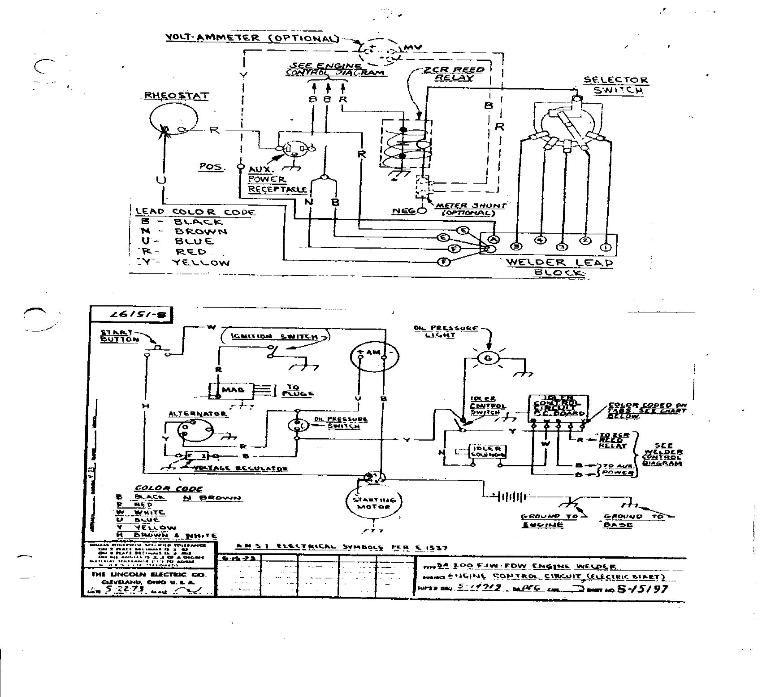 lincoln sa200 wiring diagrams   Original SA200 w auto