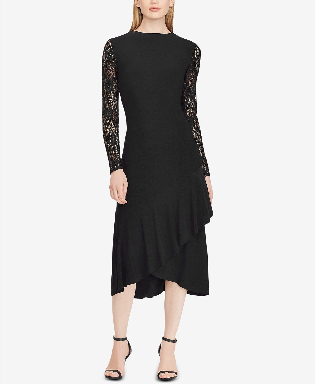 Lauren ralph lauren lacesleeve midi dress created for