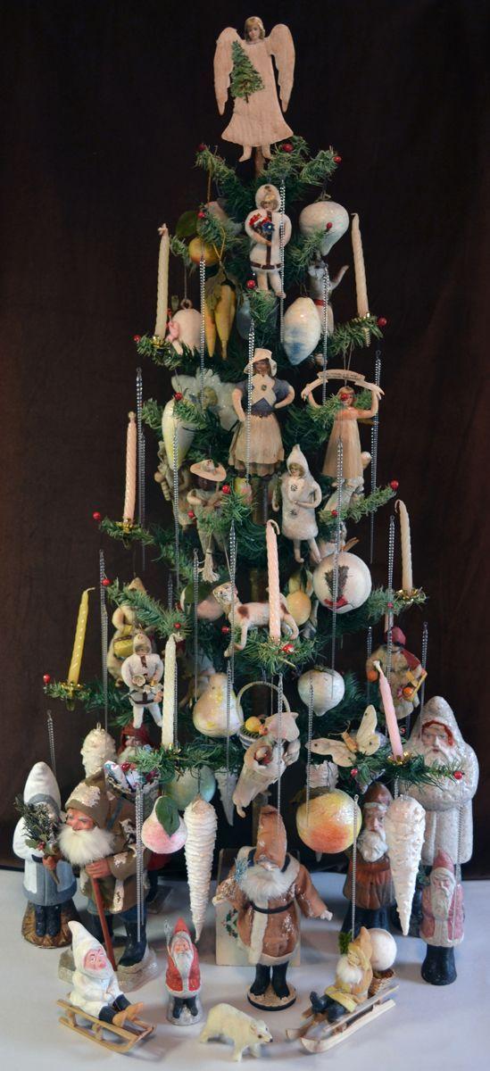 Antique spun cotton christmas for Nostalgische weihnachtsdeko