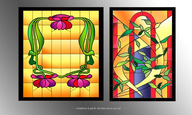 Creation Vitrail Dessins De Vitraux Vitrail Fleurs En Verre