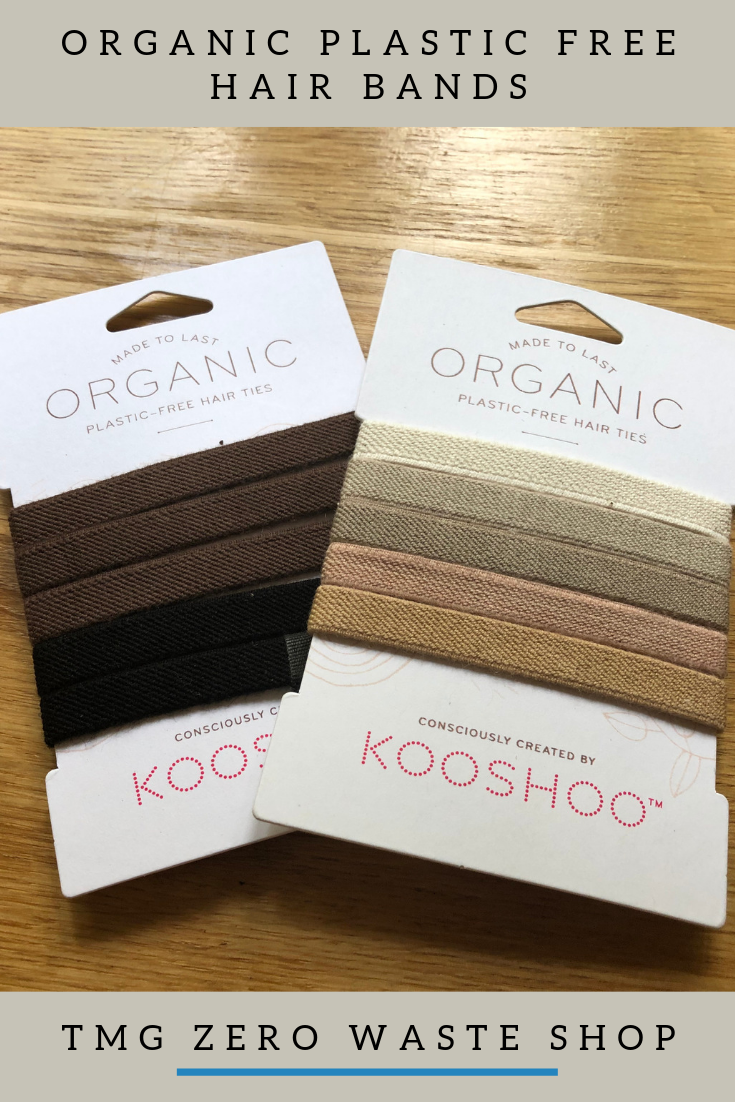 The perfect organic cotton and plastic-free hair ties Ethically and responsibly made in sunny California. This pack comes with 5 long-lasting hair ties in Blond or Black / Brown Made from 75% GOTS certified Organic Cotton and 25% Natural Rubber Zero Waste I Plastic Free I Eco Friendly I Sustainable Living #zerowaste #plasticfree #ecofriendly