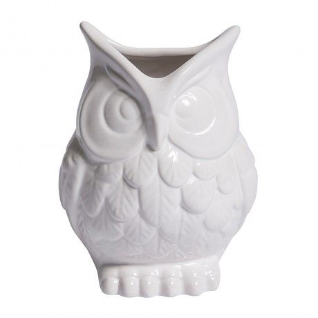 White Ceramic Owl Vase Home Decor Pinterest White Ceramics