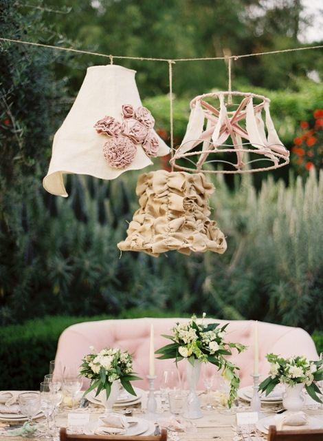 Lampadari Country Fai Da Te.Love The Lampshades My Dream Country Dreamy Wedding Lampadario