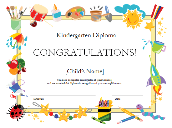 I 39 m using this template from and changing it for Free printable childrens certificates templates