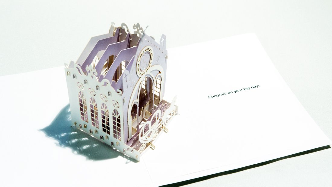 Paper Pop Cards | PPC-WC111 Wedding Church