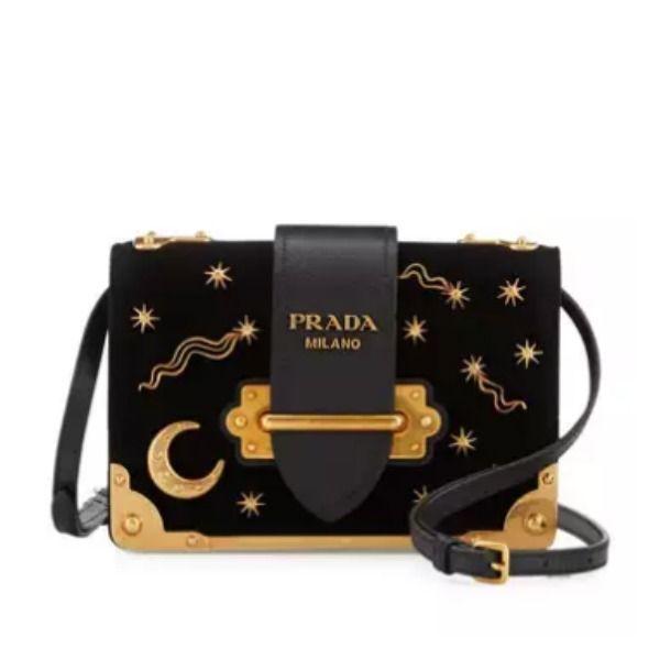 bd1fe4e692a6ed Prada Cahier Astrology Velvet Shoulder Bag | Accessories & Frills ...