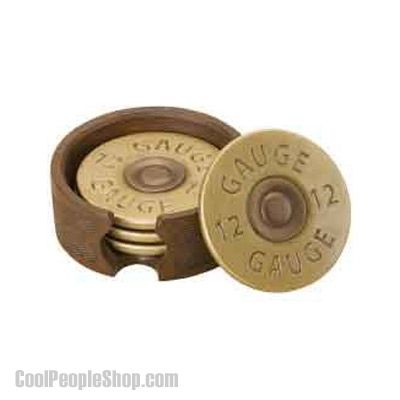 $38.99 Shotgun Shell Coasters | Cool People Shop http://www.coolpeopleshop.com/products/food-drink/shotgun-shell-coasters Featuring a distinctive 12 gauge shotgun shell design, the Shotgun Shell Collection adds a personal touch to the home of hunting enthusiasts.  Kick back with a cold one in style with this set of whimsical coasters. Hand cast coaster set. Holder is designed with a pattern that resembles the stock of a gun. #shotgun #shell #coaster #shell #shellcoaster
