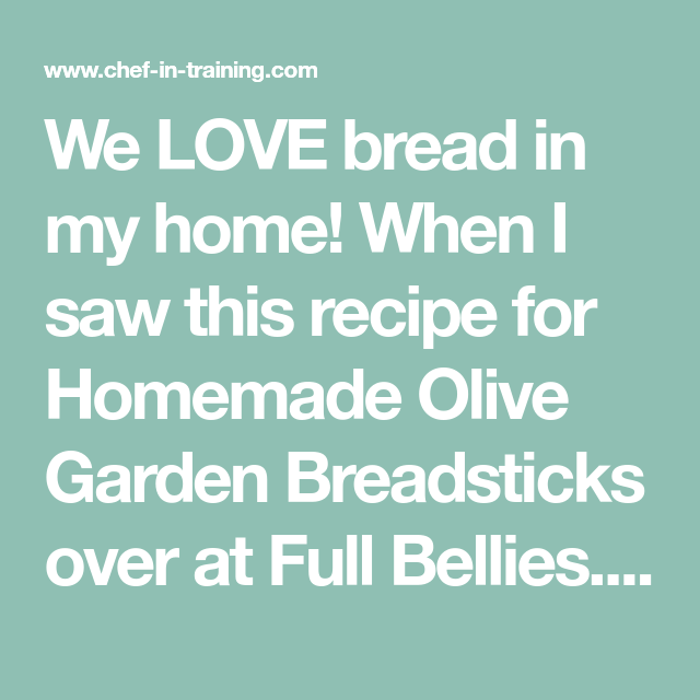 Homemade Olive Garden Breadsticks | Recipe | Pinterest | Olive ...