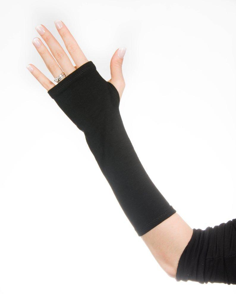 Hand Tattoo Cover Up Glove : tattoo, cover, glove, Black, Fingerless, Gloves, Women, Warmers, Wrist, Wrist,, Womens, Gloves,