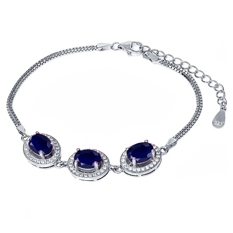 Silverly Women's .925 Sterling Silver Skull Charm Stretchable Adjustable Ball Bracelet k7pFj0H6j7
