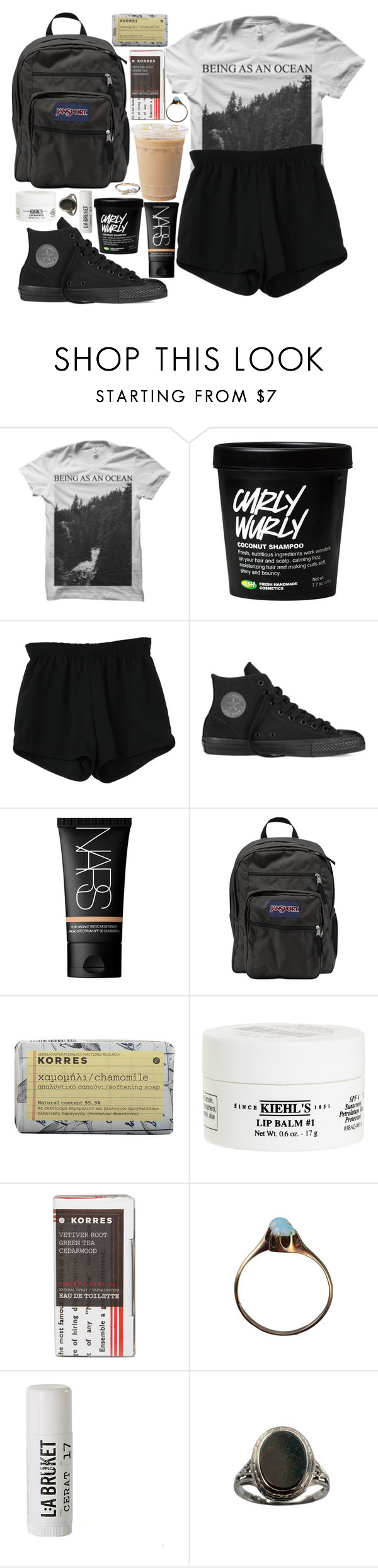 """""""Simplon"""" by velvet-ears ❤ liked on Polyvore featuring Retrò, Converse, NARS Cosmetics, JanSport, Korres, Kiehl's and L:A Bruket"""