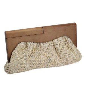 Urban Expressions Island Girl Clutch in Ivory