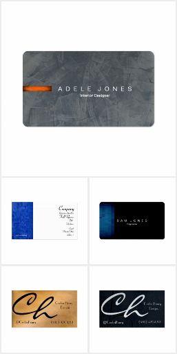 Modern Business Cards Modern Professional Elegant Black Simple