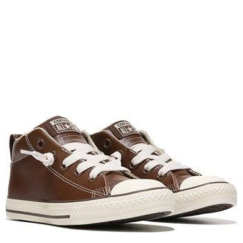24b623b22de6 Converse Chuck Taylor All Star Street Mid Top Leather Sneaker Brown Leather  SIZE 4 or 5