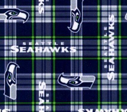 Seattle Seahawk Fleece  Plaid by JeanMariesFabrics on Etsy, $16.00