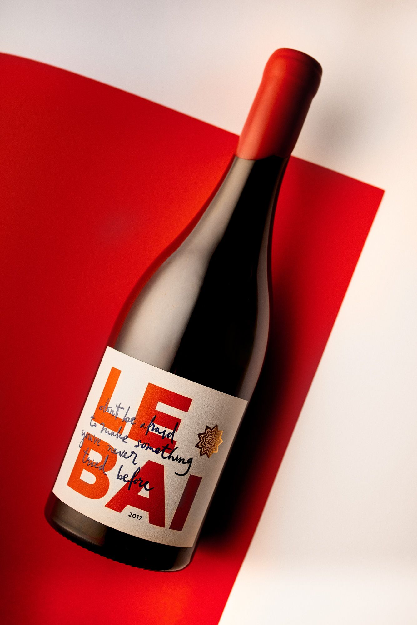 Le Bai Red Wine Invites You To Be Adventurous In 2020 Wine Invitations Red Wine Labels Wine Label Design