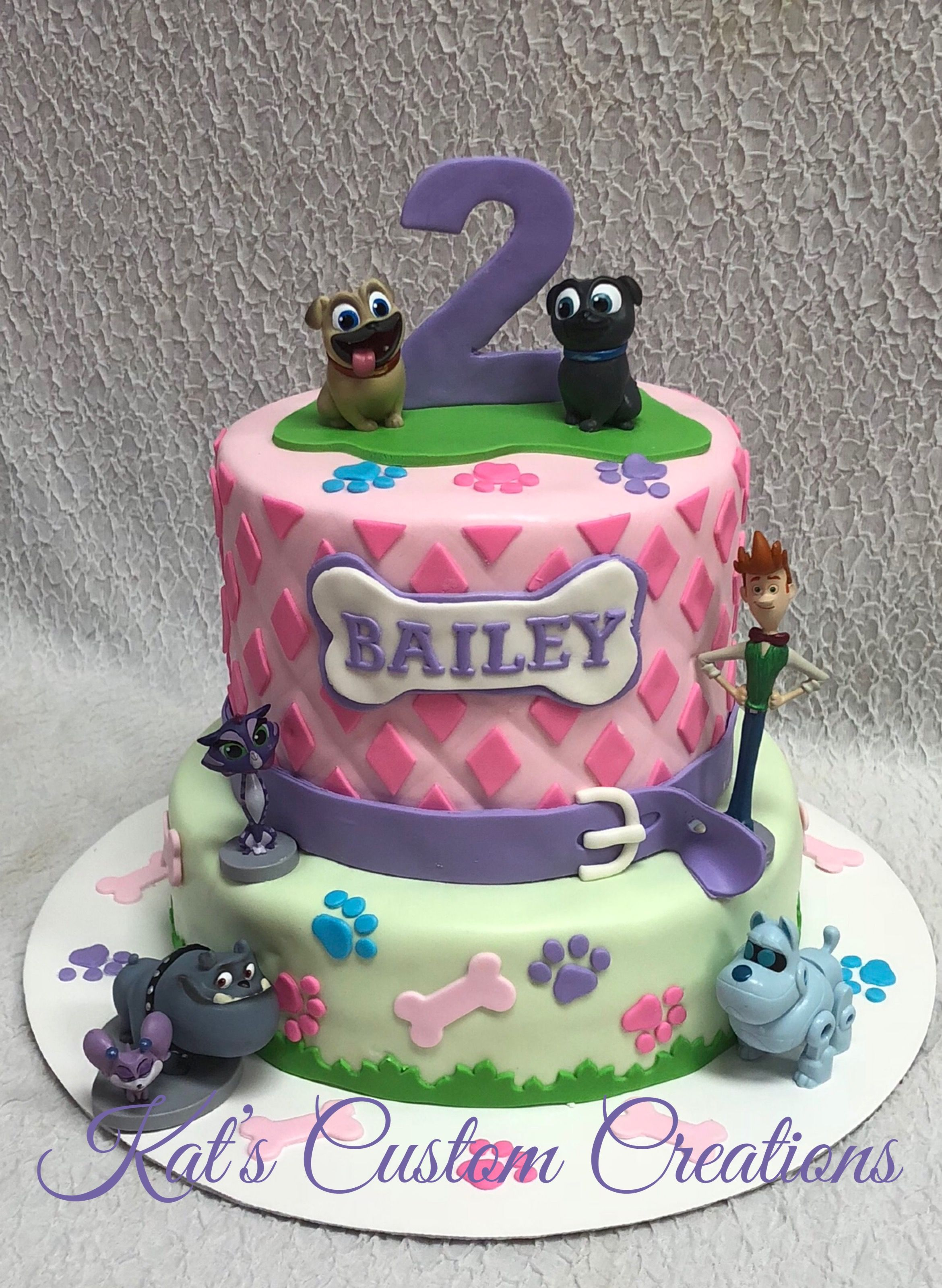 Girly Puppy Dog Pals Cake!! Puppy birthday parties