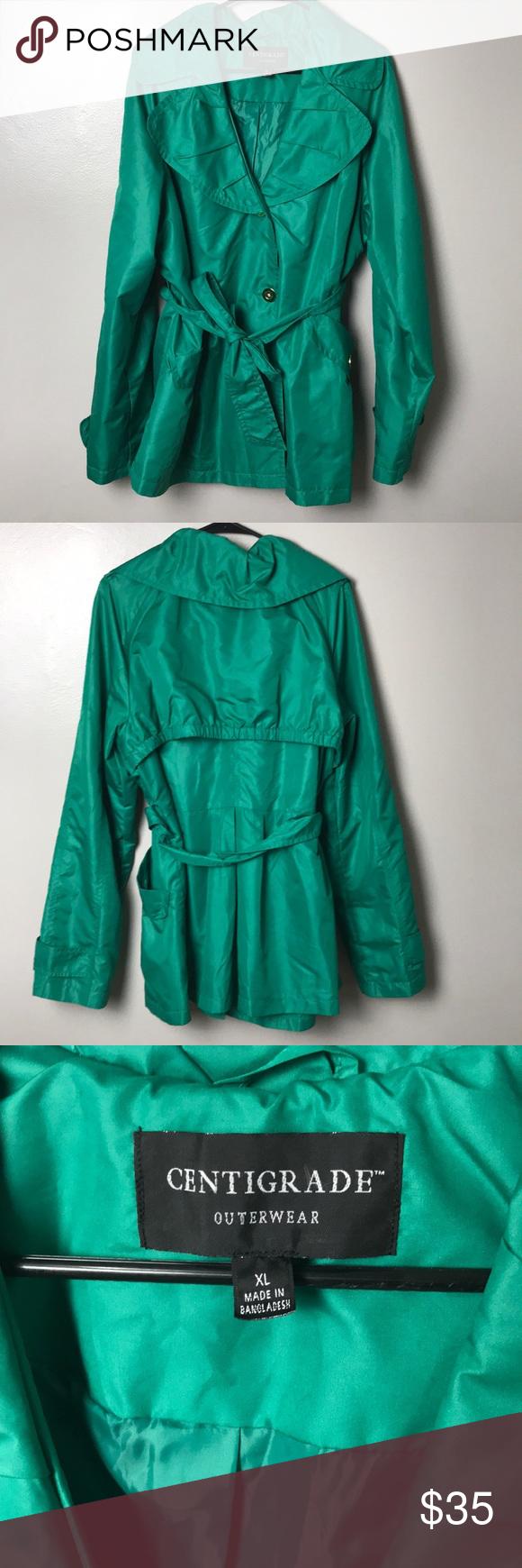 Centigrade Outerwear Green Rain Coat Xl Outerwear Clothes Design Raincoat [ 1740 x 580 Pixel ]