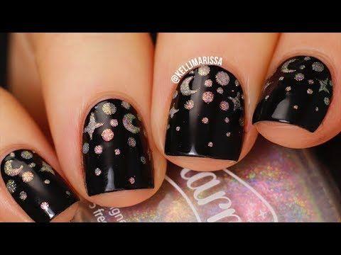 galaxy gradient dotticure nail art design tutorial