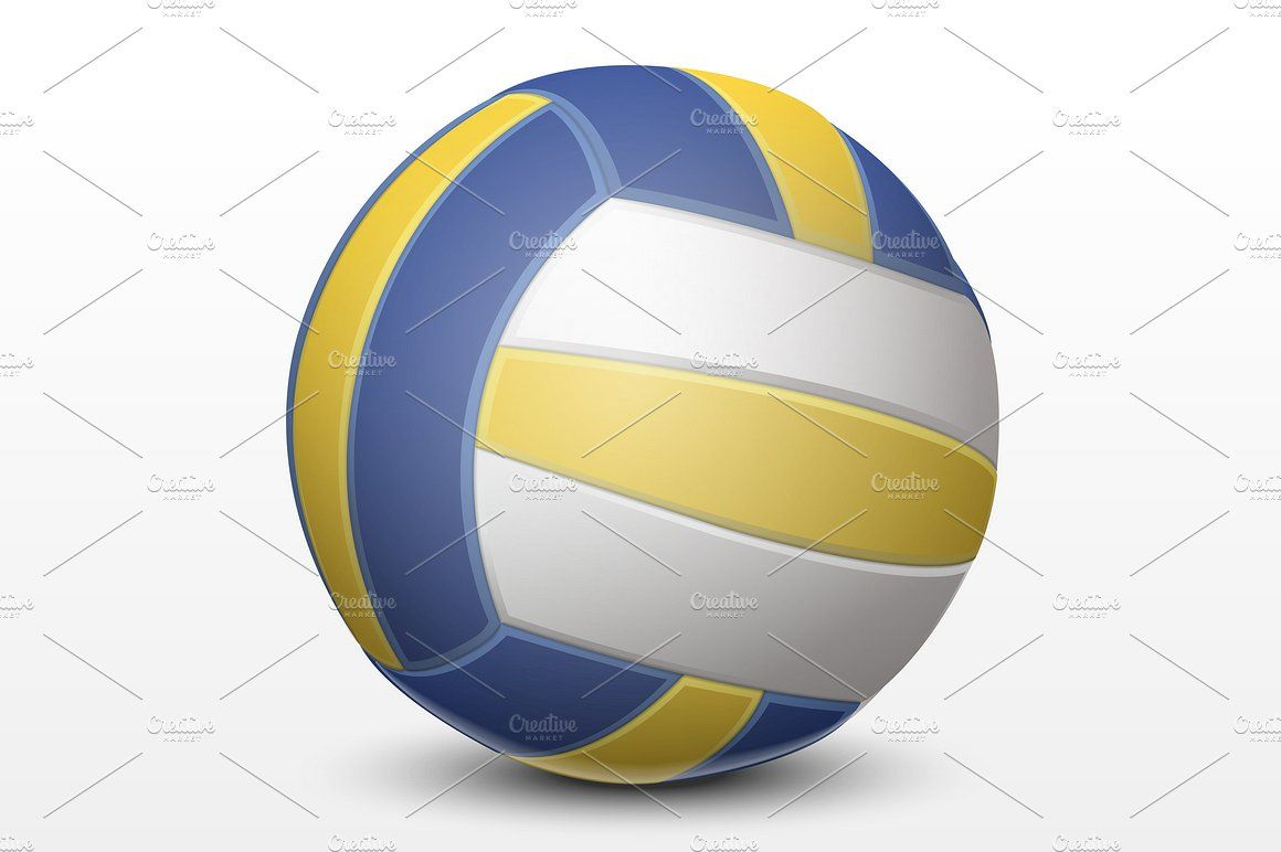 Volleyball Blue And White Volleyball Color Wheel