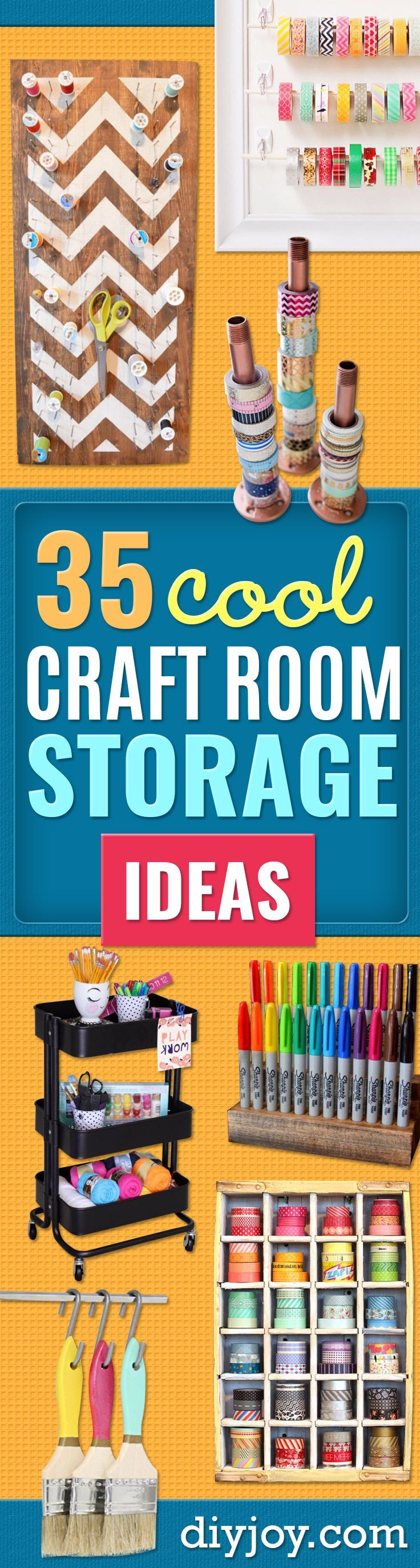 Diy craft room storage ideas and craft room organization projects diy craft room storage ideas and craft room organization projects cool ideas for do it yourself craft storage craft room decor and organizing project solutioingenieria Images