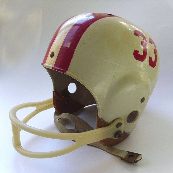 Vintage 1960s Football Helmet Rawlings Sports Collectible Football Helmets Youth Football Uniforms Football