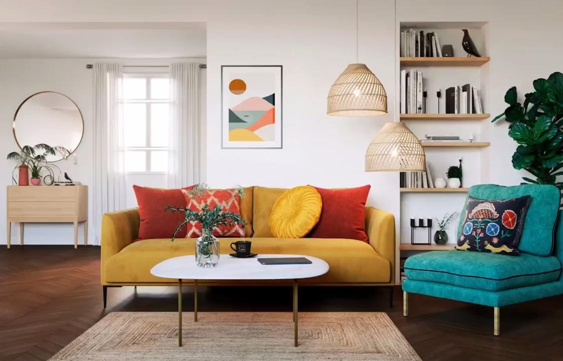 Decouvrez La Tendance Deco Boheme Sous Plusieurs Styles Et Couleurs Video Colourful Living Room Decor Living Room Designs Living Room Decor Apartment