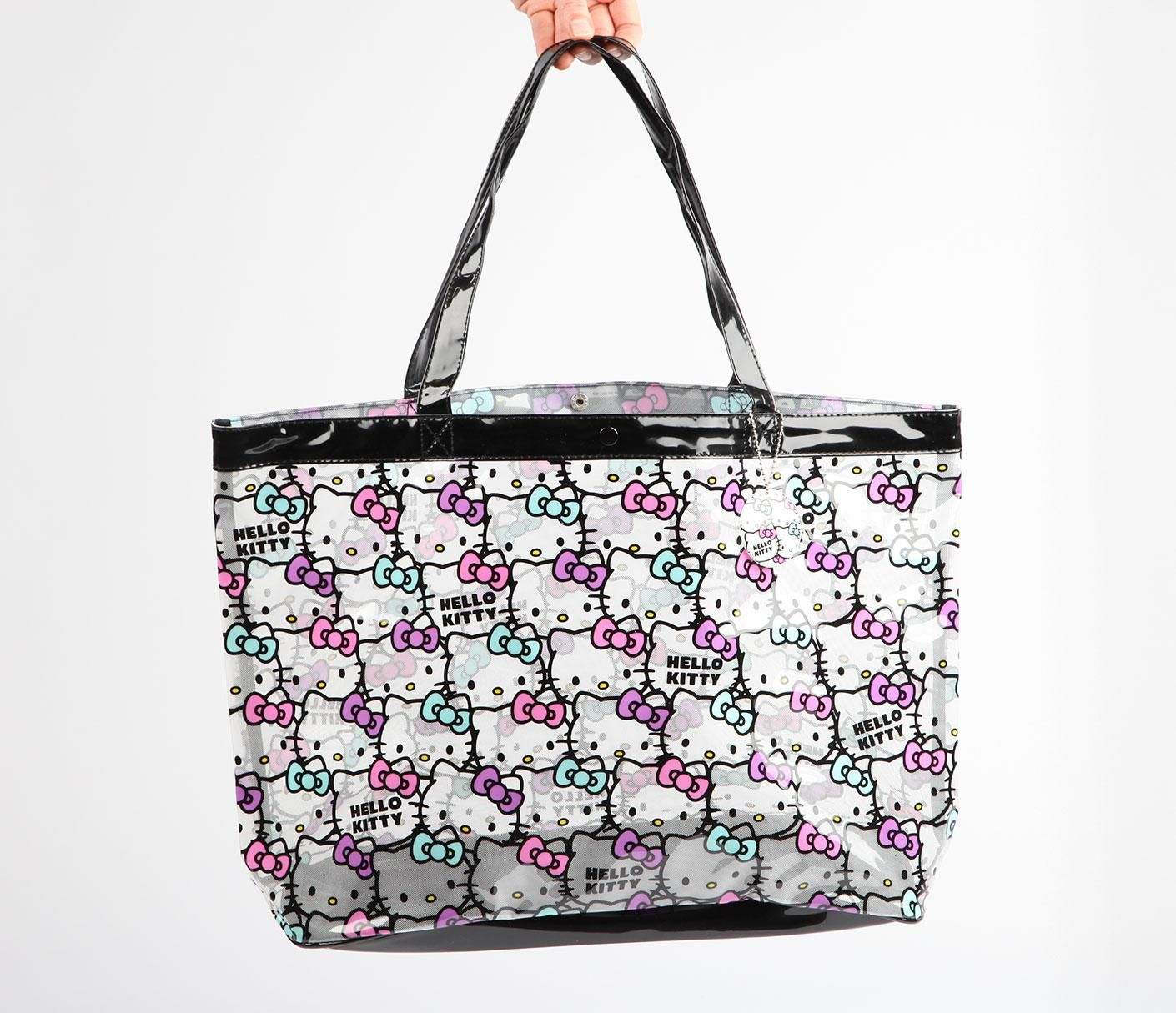 8c3c8485c582 Hello Kitty Clear Vinyl Tote Bag  Face  38.00