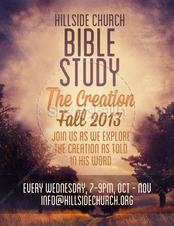Creation Bible Study Flyer Template Flyer Template