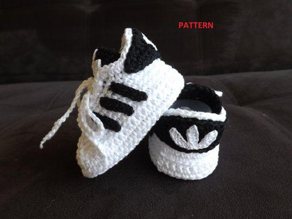 Crochet Adidas Baby Sneakers