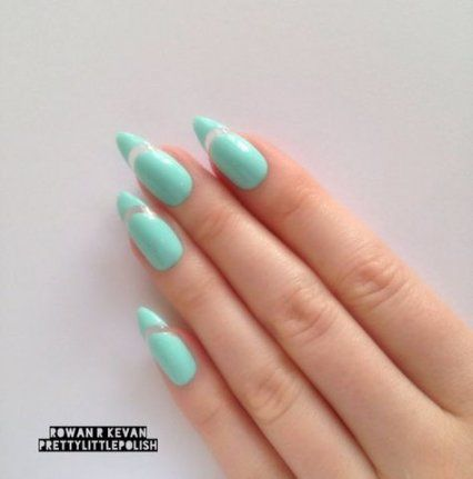 trendy nails design almond kylie jenner 48 ideas  pointy