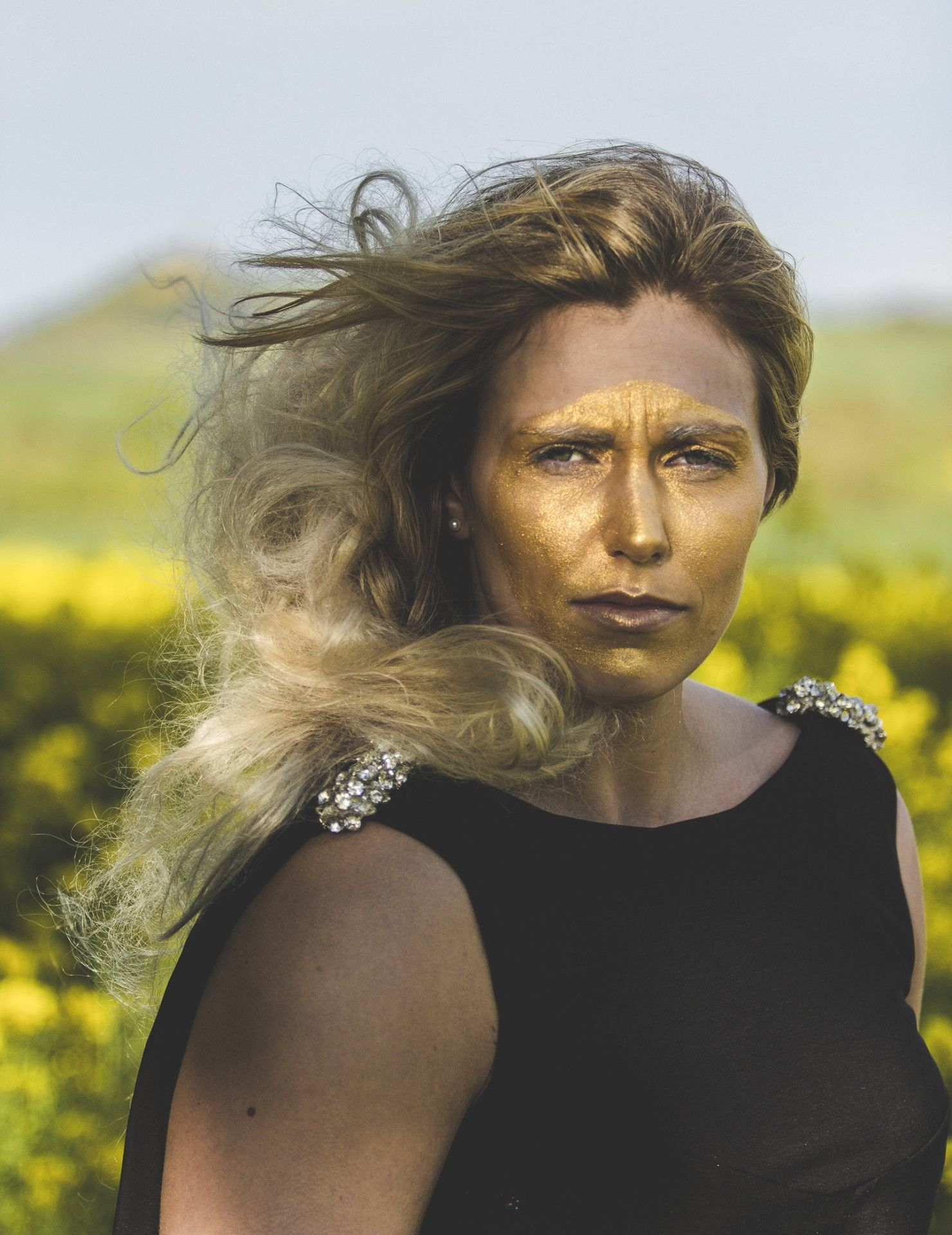 Fields of gold shoot Model: Gemma Gibbons Styling: Lynne McCrossan Hair and make-up: Molly Sheridan Photographs: Seb Singh Words: Ruth Walker